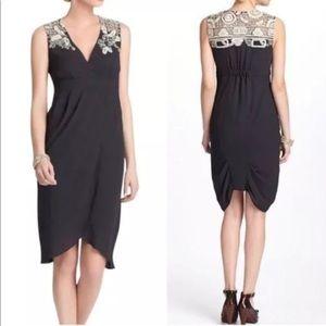 Anthropologie Meadow Rue Tulip Faux Wrap Dress